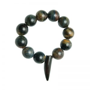 Baudacity | Tiger Eye Knotted Stretch Bracelet