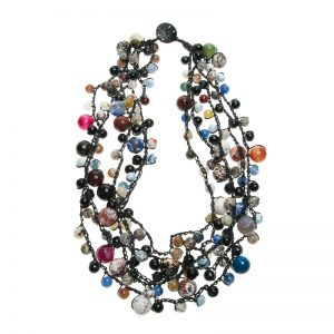 Baudacity.com | 5-Strand Leather Pathway Necklace