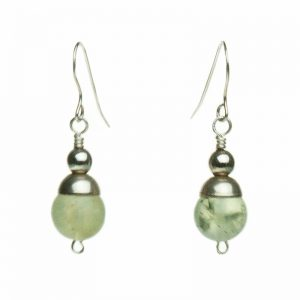 Baudacity | Prehnite Earrings